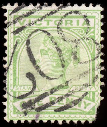 Green Queen Victoria Stamp