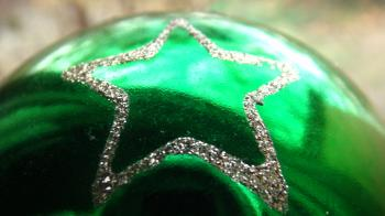 Green Star Christmas Ornament
