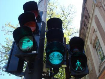 Green street lights