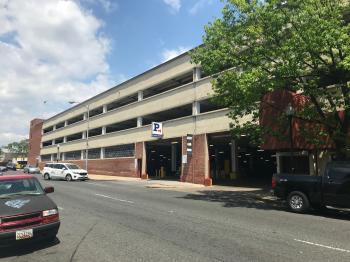 Greene Street entrance, Lexington Market Parking Garage, 520 W. Lexington Street, Baltimore, MD 21201