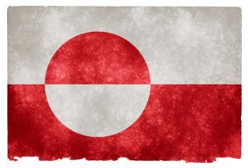 Greenland Grunge Flag