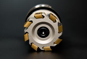 Grey and Golden Round Tool