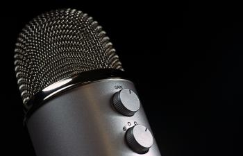 Grey Condencer Microphone