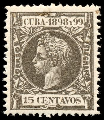 Grey King Alfonso XIII Stamp