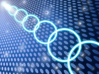 Grid Circles Shows Light Burst And Circular