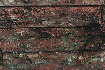 Gritty Wood Texture with Peeled Paint