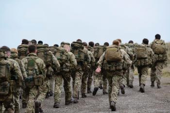 Group of Army Walking