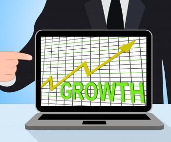 Growth Graph Chart Displays Increase Sales Profit