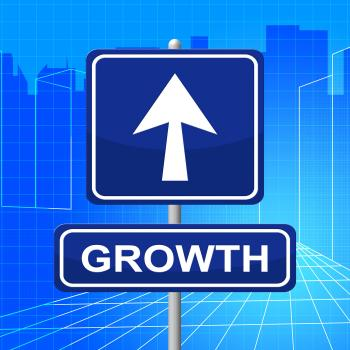 Growth Sign Represents Develop Expansion And Direction