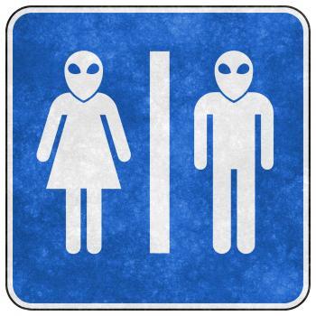 Grunge Sign - Alien Toilet