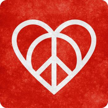 Grunge Sign - Love and Peace