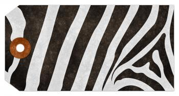 Grunge Tag - Zebra Stripes