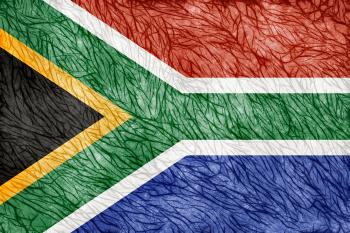 Grunge Threaded Flag - South Africa