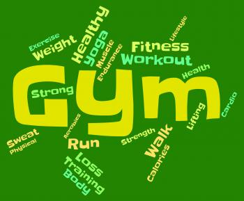 Gym Fitness Indicates Working Out And Athletic
