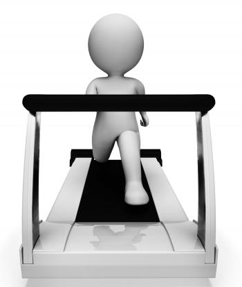 Gym Running Shows Getting Fit And Exercised 3d Rendering