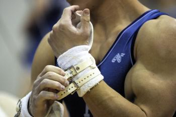 Gymnast Getting Ready