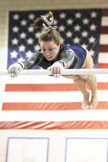 Gymnast Practicing