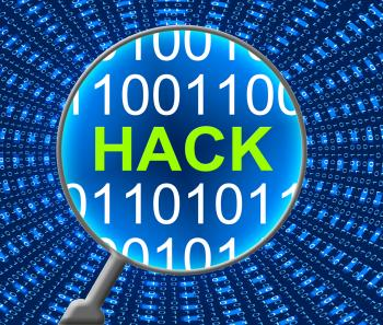 Hack Online Shows Web Site And Communication