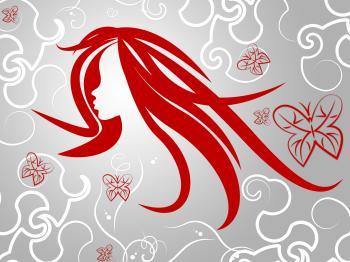 Hair Woman Represents Good Looking And Animal