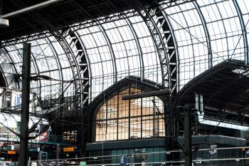 Hamburg train station roof