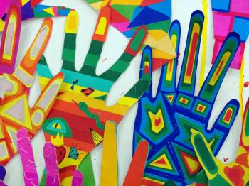 Hands Abstract Art