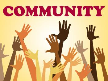 Hands Community Represents Organized Group And Altogether