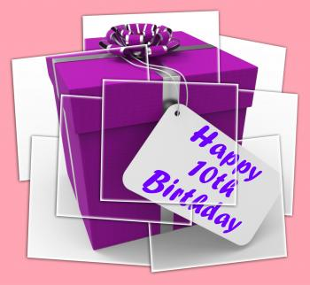 Happy 10th Birthday Gift Displays Congratulations Age Ten