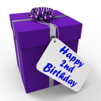 Happy 2nd Birthday Gift Shows Celebrating Turning Two