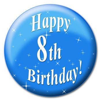 Happy Eighth Birthday Represents Congratulation Congratulations And Ce