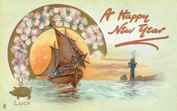 Happy New Year Card - Circa 1908