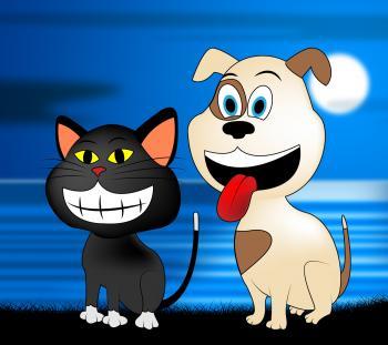 Happy Pets Represents Domestic Dog And Cat