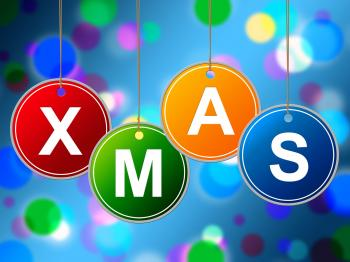 Happy Xmas Means New Year And Congratulations