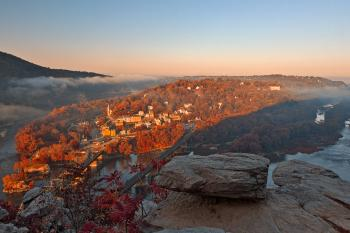 Harpers Ferry Overlook - Autumn Warm HDR