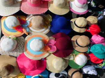 Hats on sale at market