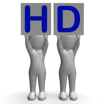 HD Banners Mean High Definition Television Or High Resolution