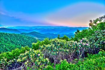 HDR Mountain Landscape