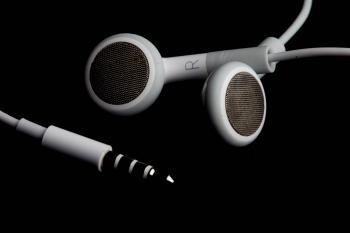 Headphones on black