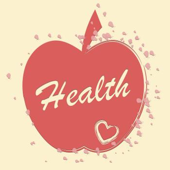 Health Apple Means Healthy Wellness And Care