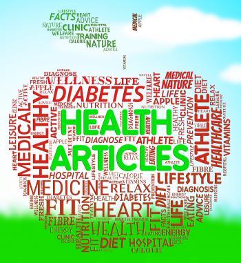 Health Articles Indicates Medicine Editorials And Magazines