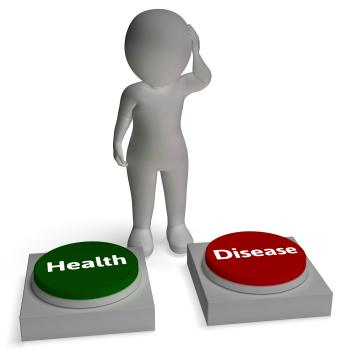 Health Disease Buttons Shows Healthcare