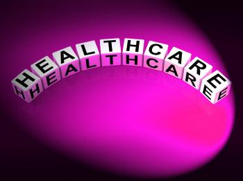 Healthcare Letters Show Medical Wellbeing And Health Checks