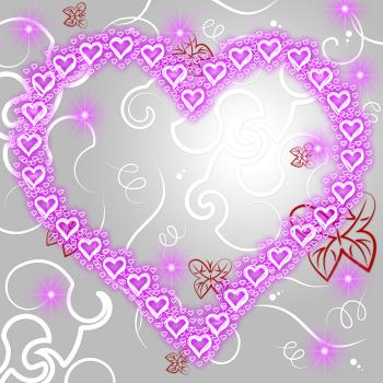 Heart Background Represents Valentine Day And Copy