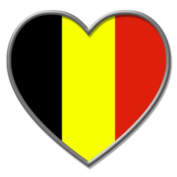 Heart Belgium Indicates Valentine Day And Belgian
