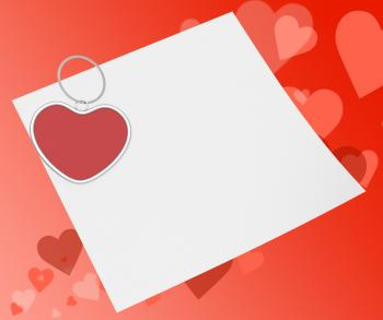 Heart Clip On Note Means Affection Note Or Love Message