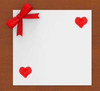 Heart Copyspace Indicates Valentines Day And Copy-Space