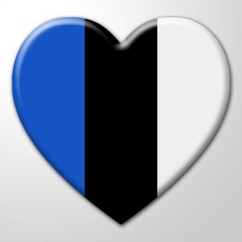 Heart Estonia Shows Loving European And Europe