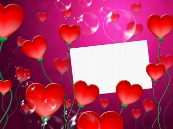 Heart Message Means Valentine Day And Correspond