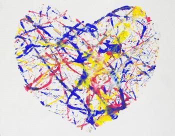 Heart Paint Splatter