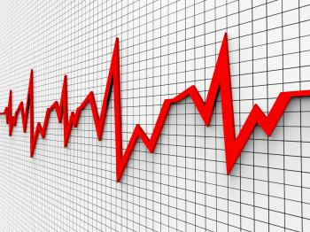 Heartbeat Chart Shows Flat Screen And Cardiograph