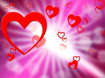 Hearts Background Indicates Valentines Day And Affection